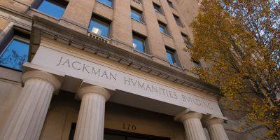 Exterior view of the Jackman Humanities Institute on Bloor Street.