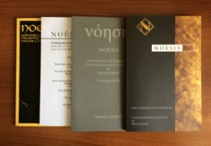 Covers of previous issues of Noesis journal