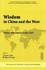 "Cover of ""Wisdom In China And The West: Chinese Philosophical Studies"""