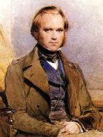 Portrait of Charles Darwin.