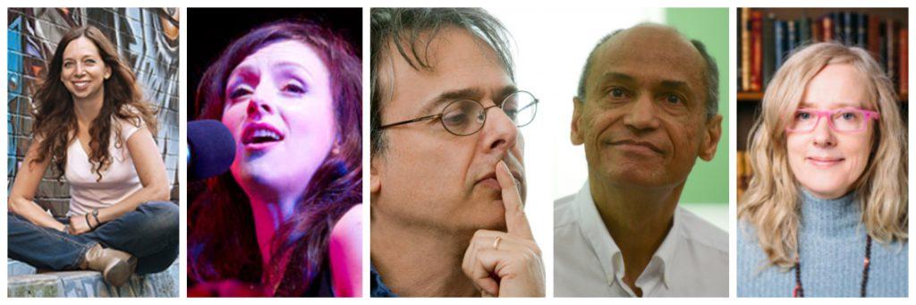 Collage: L to R - Hamutal Dotan, Sarah Slean, Stephen Yablo, Charles Mills, Janieta Eyre