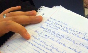 handwritten page of semantics formulas