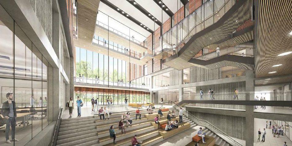 Digital mockup of interior of new North Building