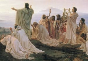 Fyodor Bronnikov, Pythagoreans' Hymn to the Rising Sun, 1869, oil painting