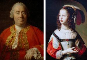 David Hume and Sophia of Hanover (portraits)