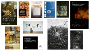 Collage of book covers of faculty publications
