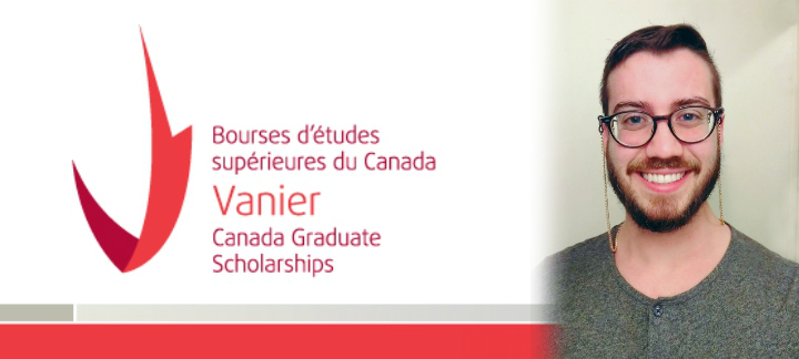 Charles Dalrymple-Frasier with Vanier Scholarships logo