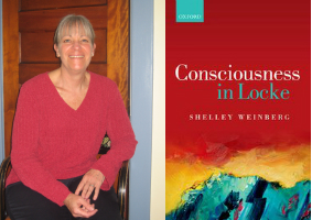 Image of Shelley Weinberg next to book cover.