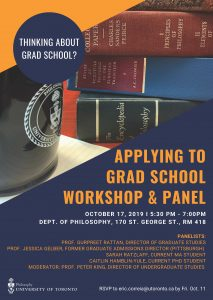 2019 Applying to Grad School Workshop