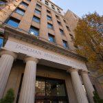 front of Jackman Humanities Building, 170 St. George Street, Toronto