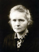 Portrait of Marie Curie.