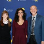 L to R: UTM Philosophy Chair Diana Raffman, award recipient Mary Loka, and UTM Vice-President and Principal Ulli Krull.