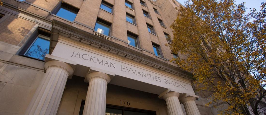 front of Jackman Humanities Building