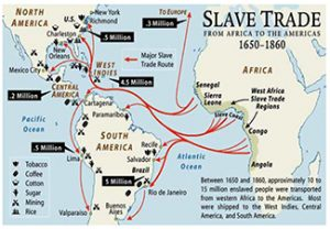 Map of the Atlantic Slave Trade