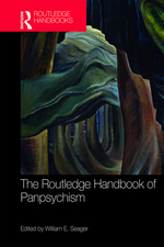 """The Routledge Handbook of Panpsychism"", edited by William E. Seager. Book cover consists of abstract art."