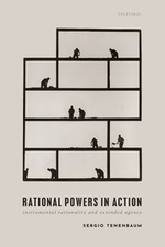 """Rational Powers in Action"", by Sergio Tenenbaum. Book cover shows men working, all on different levels."