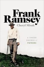 """Frank Ramsey"" by Cheryl Misak. Book cover is of an elderly standing on grass."