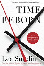 """Time Reborn"", by Lee Smolin. Book cover shows a clock."