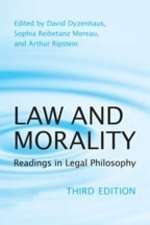 """Law and Morality: Readings in Legal Philosophy"" by Arthur Ripstein and David Dyzenhaus. Book cover is of a droplet."