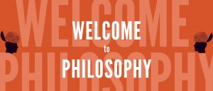 """Image of a header with """"Welcome to Philosophy""""."""