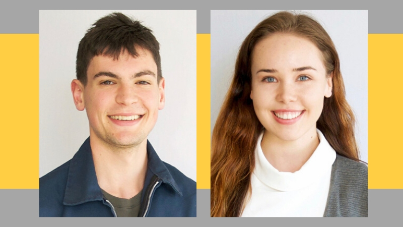 Zachary Rosen + Olivia Smith, JHI Undergrad Fellows 2019-2020