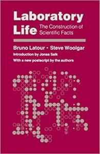 Cover of Bruno  Latour's book laboratory ife