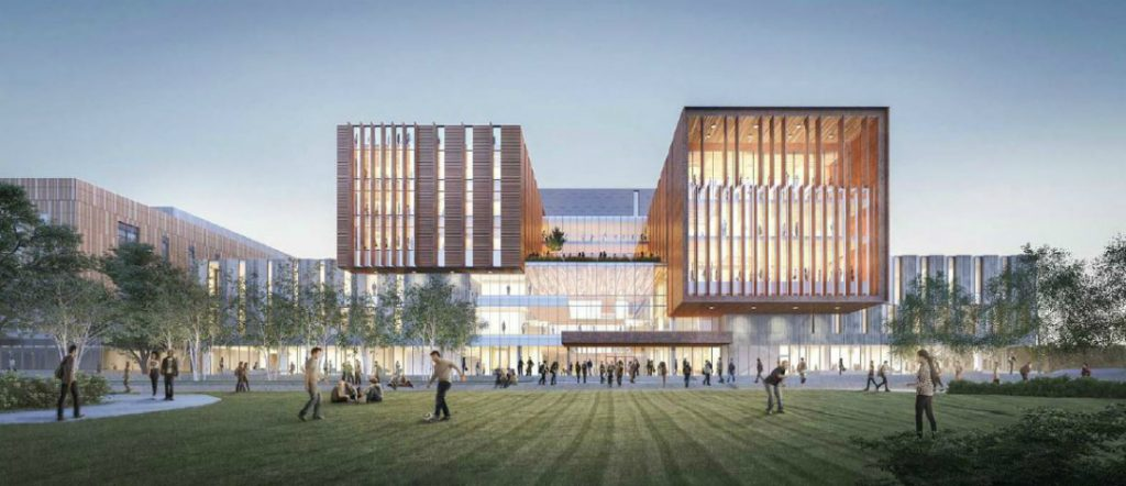 Digital mockup of new North Building at UTM - exterior