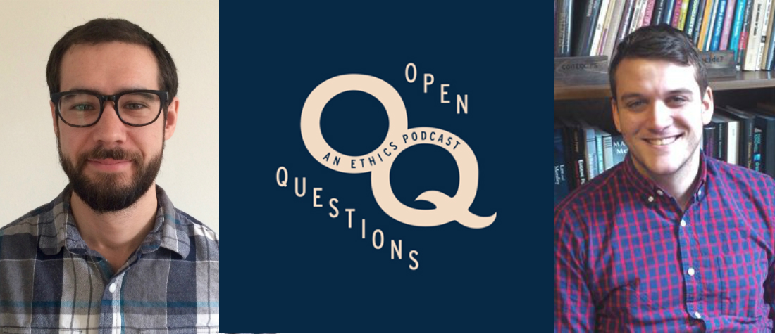 open questions logo plus pictures of Jeremy Davis and Eric Mathison