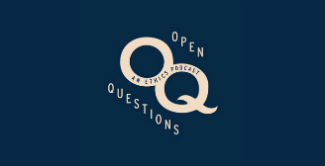 Open Question logo on blue background