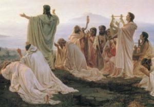 Fyodor Bronnikov, Pythagoreans' Hymn to the Rising Sun, 1869, oil painting