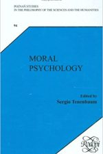 "Cover of ""Moral Psychology. (Poznan Studies in the Philosophy of the Sciences and the Humanities, New Trends in Philosophy)"""