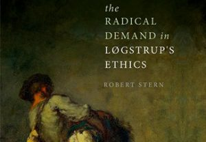 "Cropped book cover of ""The Radical Demand in Logstrup's Eithics"" by Rpbert Stern showing two peasants painted in a darkly lit scene"