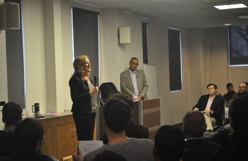 Ellen Roseman introducing Tommie Shelby